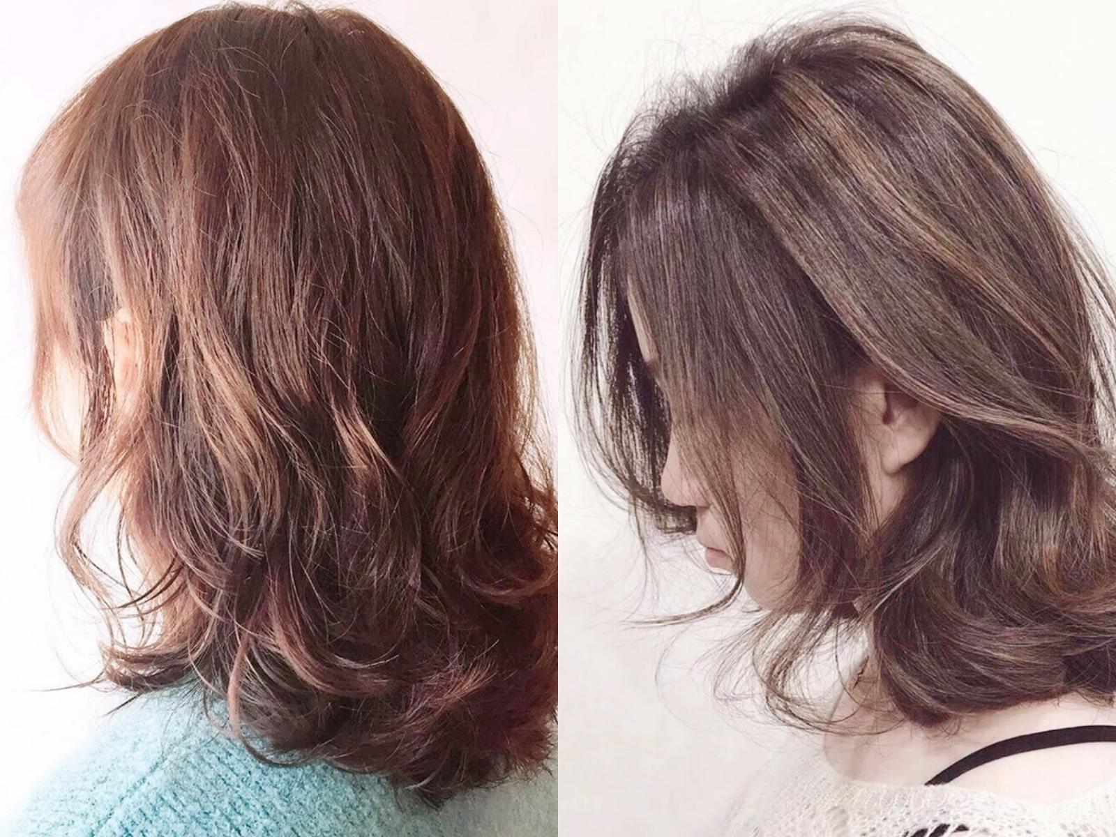 4,长刘海的中发烫发型图片