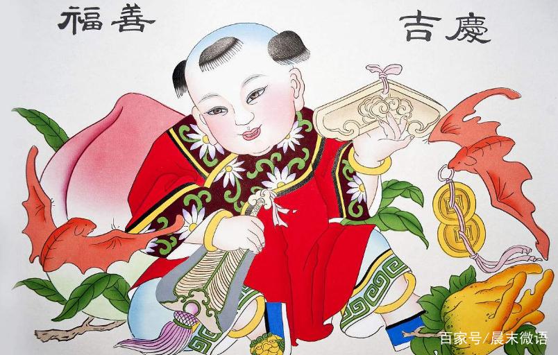 中国年画欣赏:凶神恶煞的门神与可爱的中国娃娃