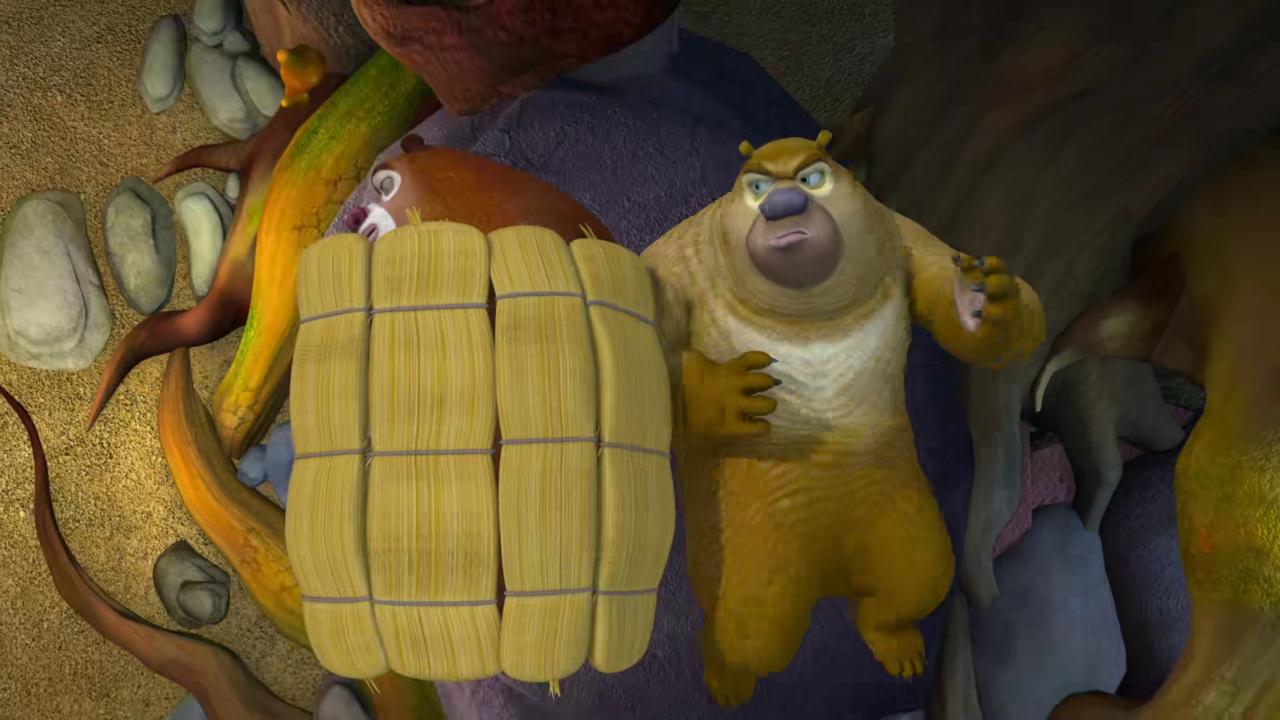 熊出没:盘点动画中主角们的睡姿,赵琳最美,熊大熊二最图片