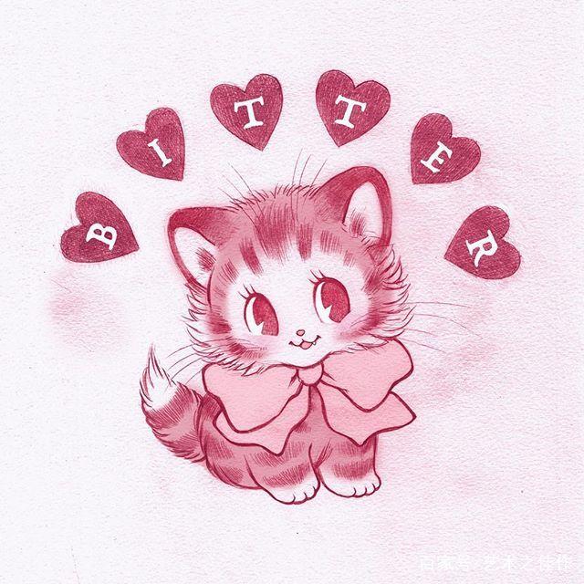 手绘小动物插画,萌萌的好可爱,可以拿来当头像