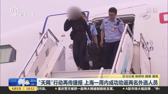 """""""天网""""行动再传捷报  上海一周内成功劝返两名外逃人员"""