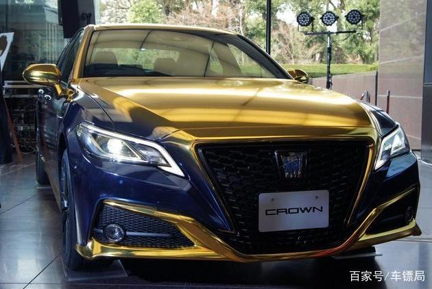 """最帅""""丰田皇冠"""",蓝金色涂装,配2.0T发动机,气势堪比奔驰S级"""