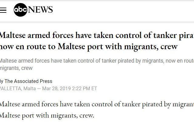 突发:难民劫持土耳其商船驶向欧洲,马耳他海军出动特种部队