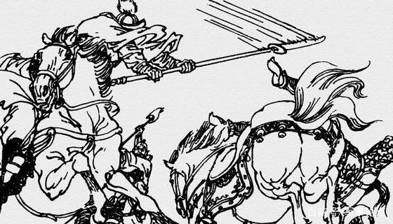 趁着于吉往回撤棍的时候,朱灿提马往前一蹿,大刀一举,力劈华山,将于吉