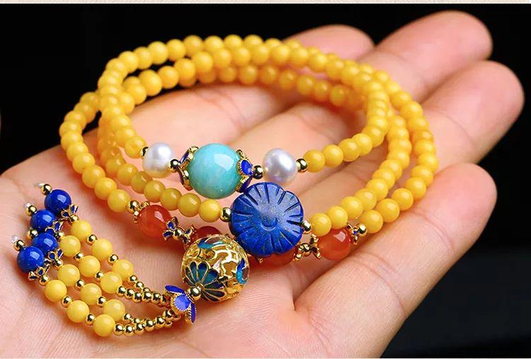 混搭-镶嵌-琥珀蜜蜡手串、手链
