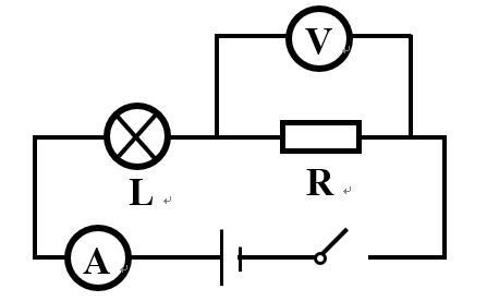 在上图所示的串联电路中出现一个电表示数变大,另一个电表示数变小的