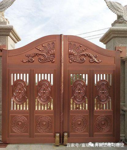 庭院门,院子门,铜门,门