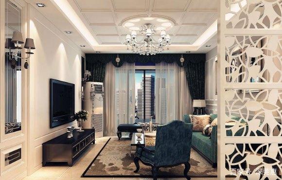 色彩对比强烈的简约欧式风格装修设计,卧室衣柜这样装