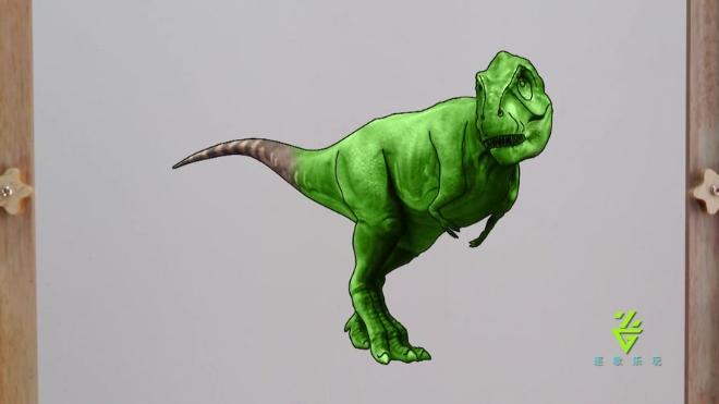 「霸王龙」与恐龙同行 侏罗纪世界 恐龙乐园 恐龙战队