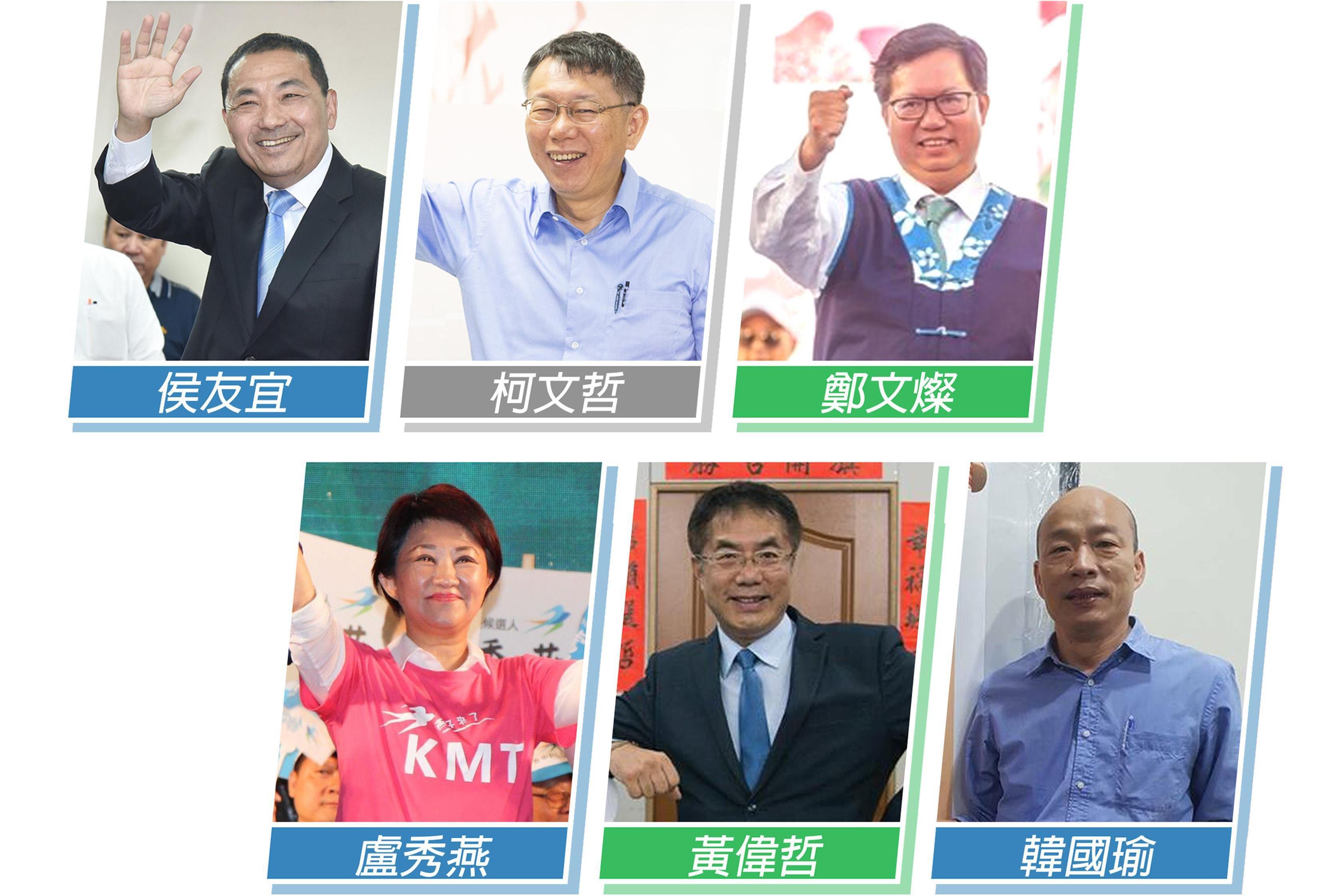 台湾六大都市市长就职百日满意度民调出炉:这两位竟赢过韩国瑜