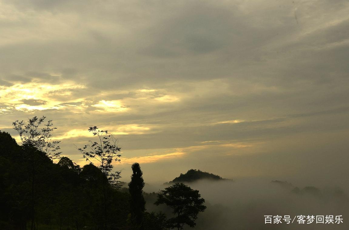 风景写实——成都崇州三郎镇雨后晨景