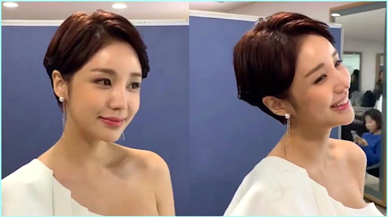 国字脸女生想要脸形变小 发型师根据脸型气质设计后 脸变小了一圈图片
