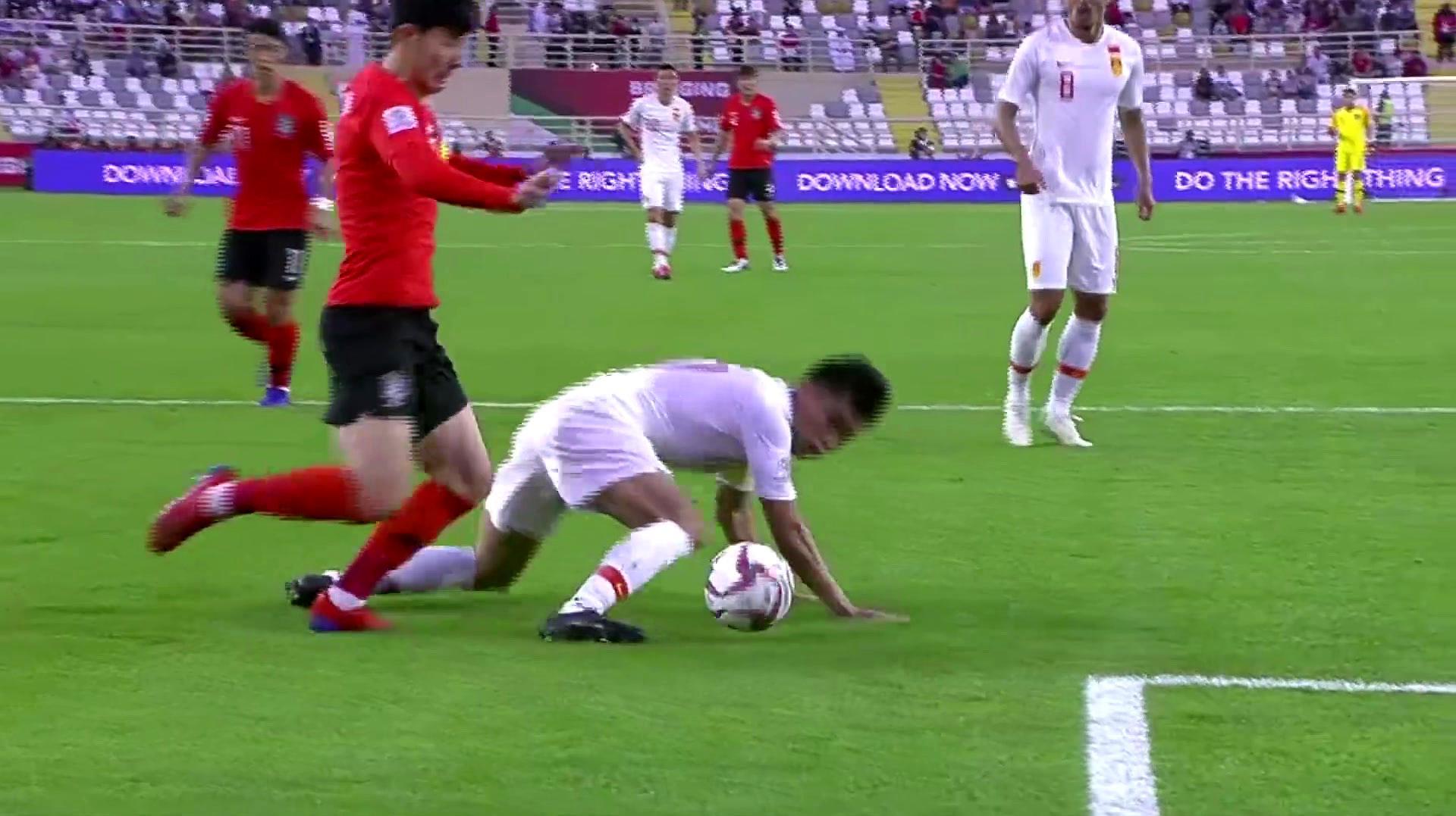 亚洲杯回顾:孙兴慜造两球,国足0-2负于韩国,淘汰赛战泰国!