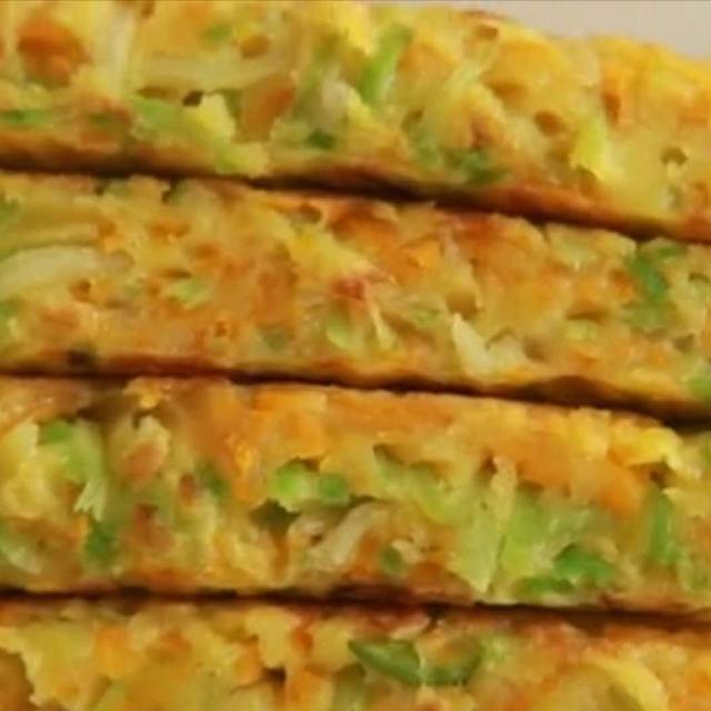快手早餐鸡蛋饼,菜香浓郁,柔软爽口,健脾养胃易消化