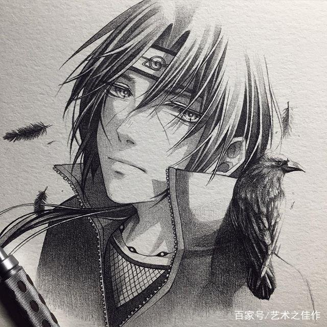 铅笔人物手绘,帅气十足的动漫小哥哥