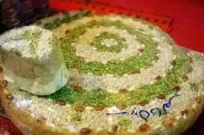 伊朗切糕伊朗面粉,开心果点绿,一公斤的伊国切糕,有天朝的华丽不?