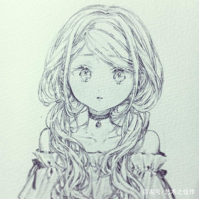 人物插画,可爱的少女,真的是超甜