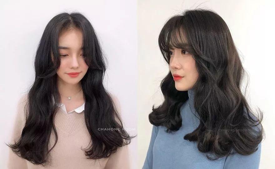 2017韩式发型女中长发图片