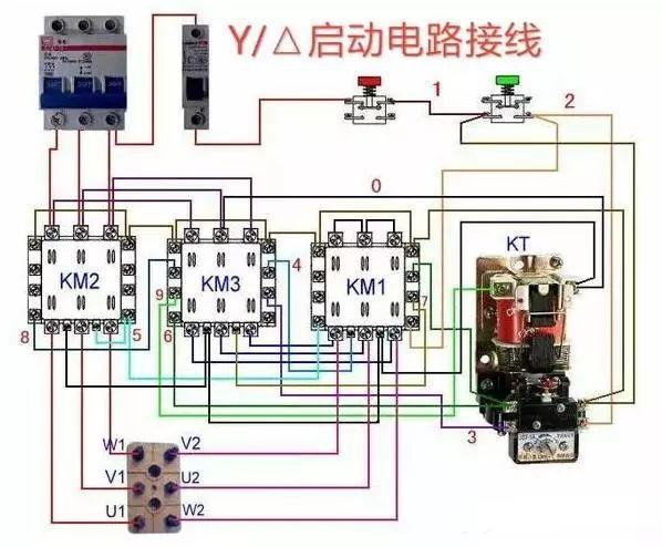 常用交流接触器实物接线彩图,简单明了,一目了然,建议