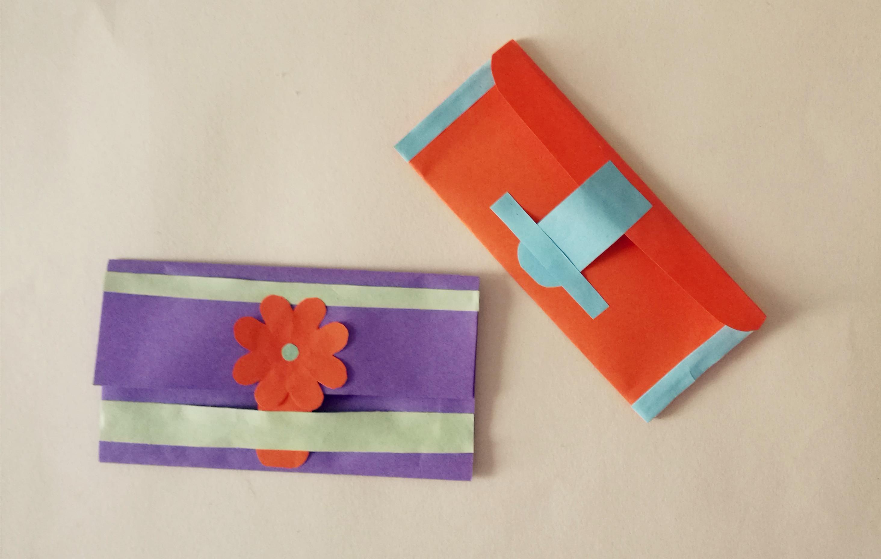 幼儿园手工,用卡纸制作小钱包的方法,简单易学实用