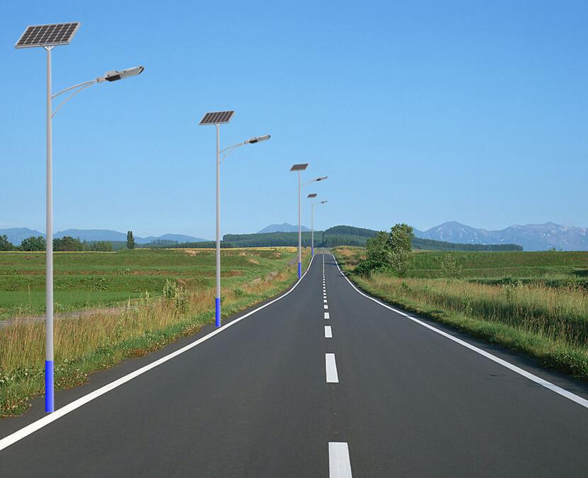 太阳能路灯灯杆 路灯灯杆 路灯杆 为智慧城市埋下的图片