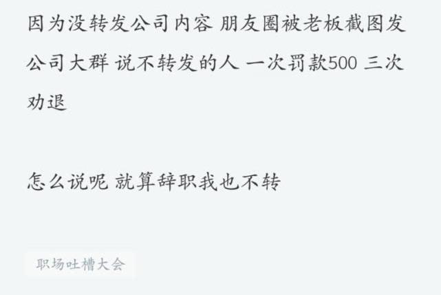 因没转发公司内容到朋友圈,程序员被罚500,15天后老板损失8万