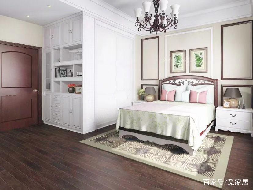 10平米的卧室,同样可以挤出一个占用3平米的衣帽间,小