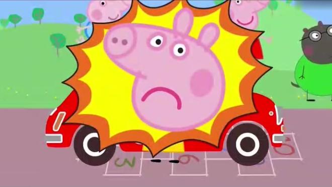 少儿启蒙早教:猪宝宝选择跟衣服同样颜色的小汽车,开车学习颜色