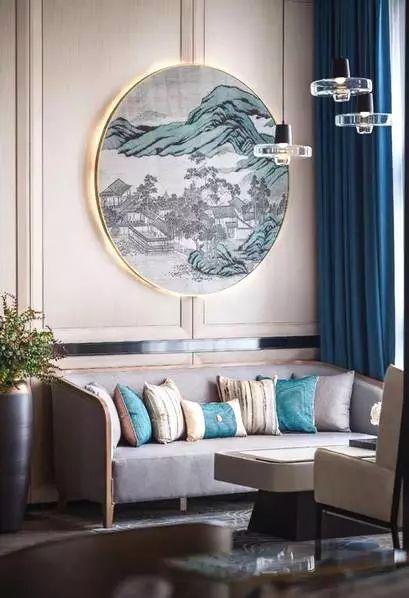 【丰多整体家居】新中式沙发背景墙设计,美得像幅画!
