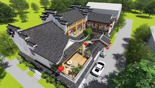 新中式农村四合院别墅,带小院和露台,这才是房子该有图片