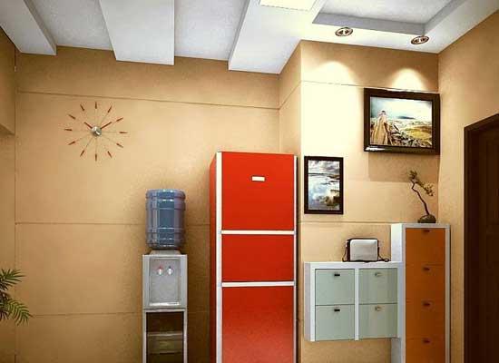 客厅冰箱隐藏柜效果图