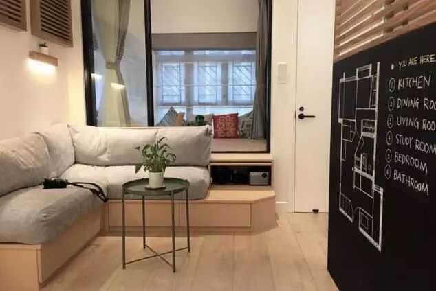 """香港32㎡小宅,客厅""""不买沙发"""",卫生间2㎡,生活一样美滋滋!"""