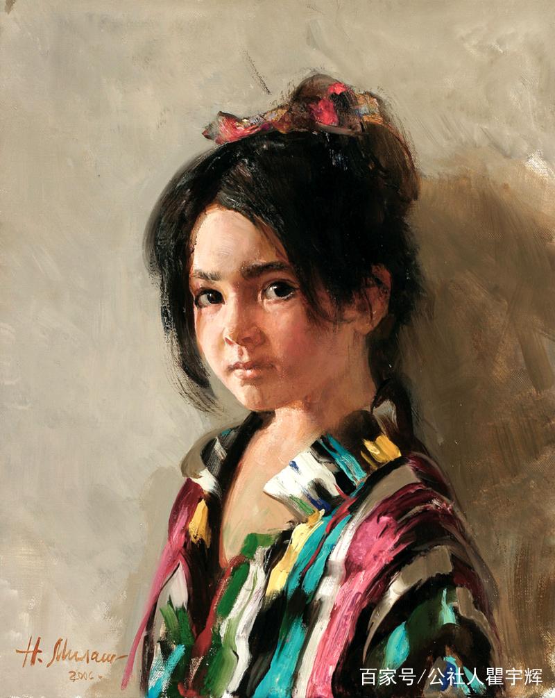 女画家米拉舍维奇画笔下的小天使。米拉舍维奇,1967年出生于杜尚别,1995年毕业于列宾美术学院,俄罗斯美术家协会会员。她油画作品以描绘儿童为主,浑厚有力,笔触细腻大胆,造型精准唯美,有着自己独特的风格。  米拉舍维奇画笔下的小天使,他们的脸上有一双清澈的眸,形象可爱中又带着点顽皮。