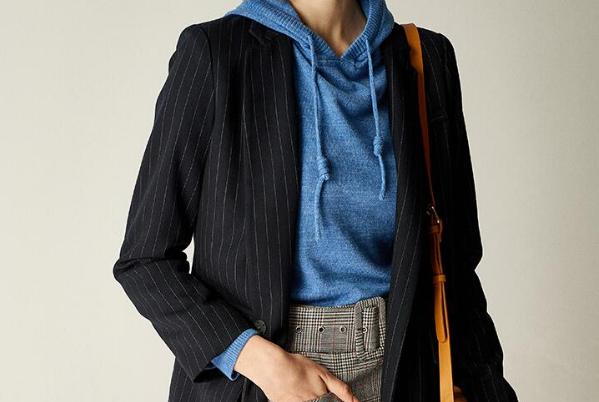 条纹西装外套的5种穿搭示范,时髦指数飙升,瞬间摆脱路人形象