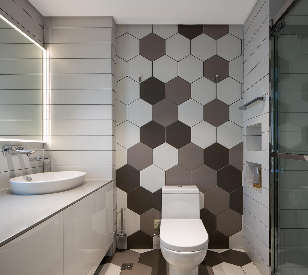 6个超实用浴室装修案例实景效果图,你要的黑白灰卫生