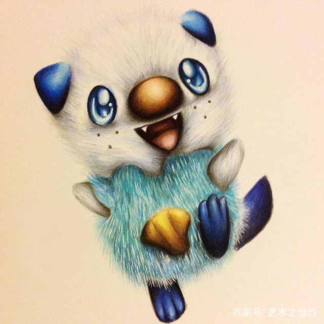 手绘彩画,小动物相当可爱,萌萌的