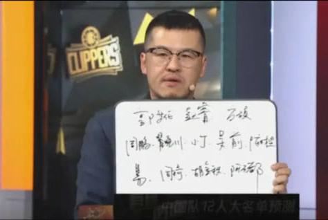 男篮世界杯国手12名单会选谁?杨毅与王猛给出心中答案,差别很大