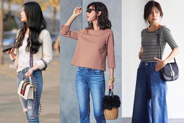 女人再丑,一定别穿的太土,牛仔裤轻松塑造出高级感!