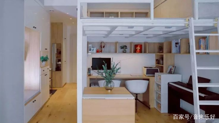 上床下桌,省空间又实用的设计!设计师好用心图片
