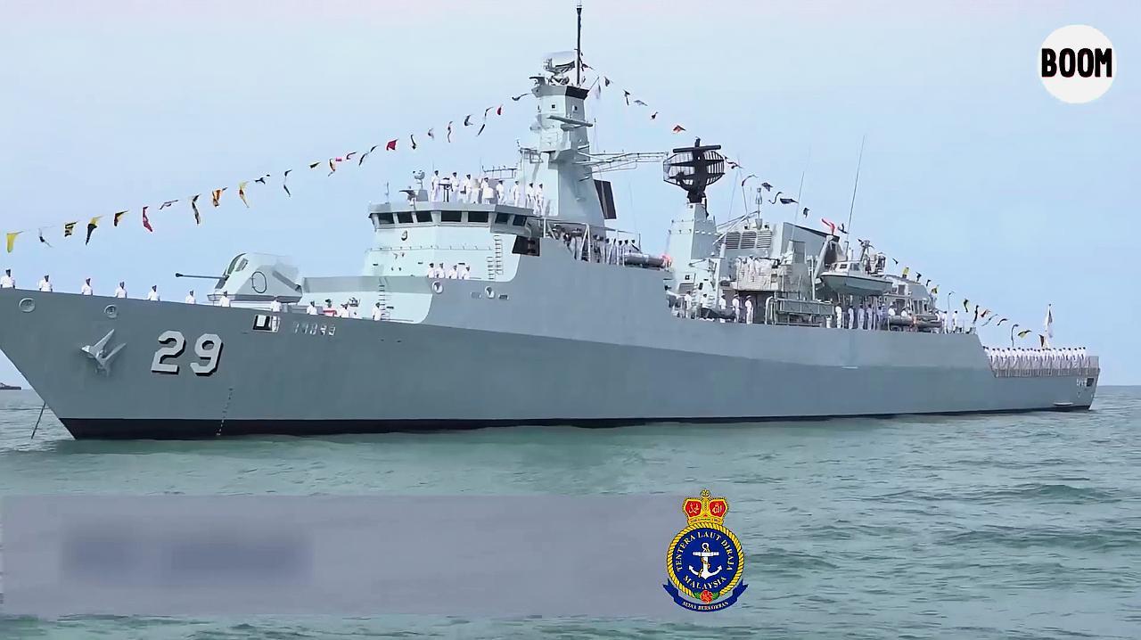 马来西亚兰卡威防务展举行海上阅兵式 中国054A护卫舰参加
