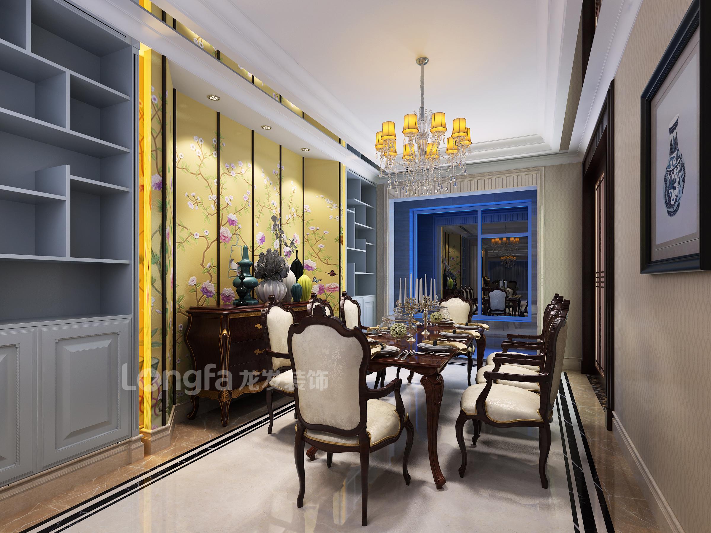 中正锦城188平米古典欧式风格设计案例店面铺装 看了我家的装修大家
