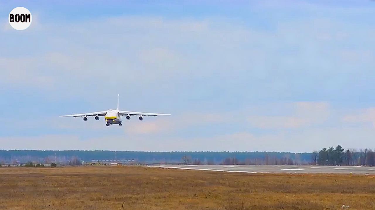 安-124侧风高难度降落