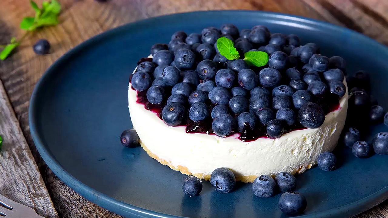 家庭烘焙小秘诀:蓝莓芝士蛋糕轻松上手,甜食党福利