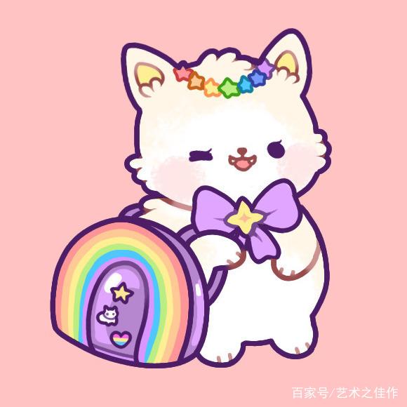 板绘动物插画,超可爱的猫咪日常,太萌了