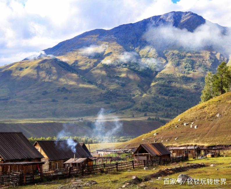 去新疆旅游,实拍新疆山地高原农村近景,美丽的高原跟