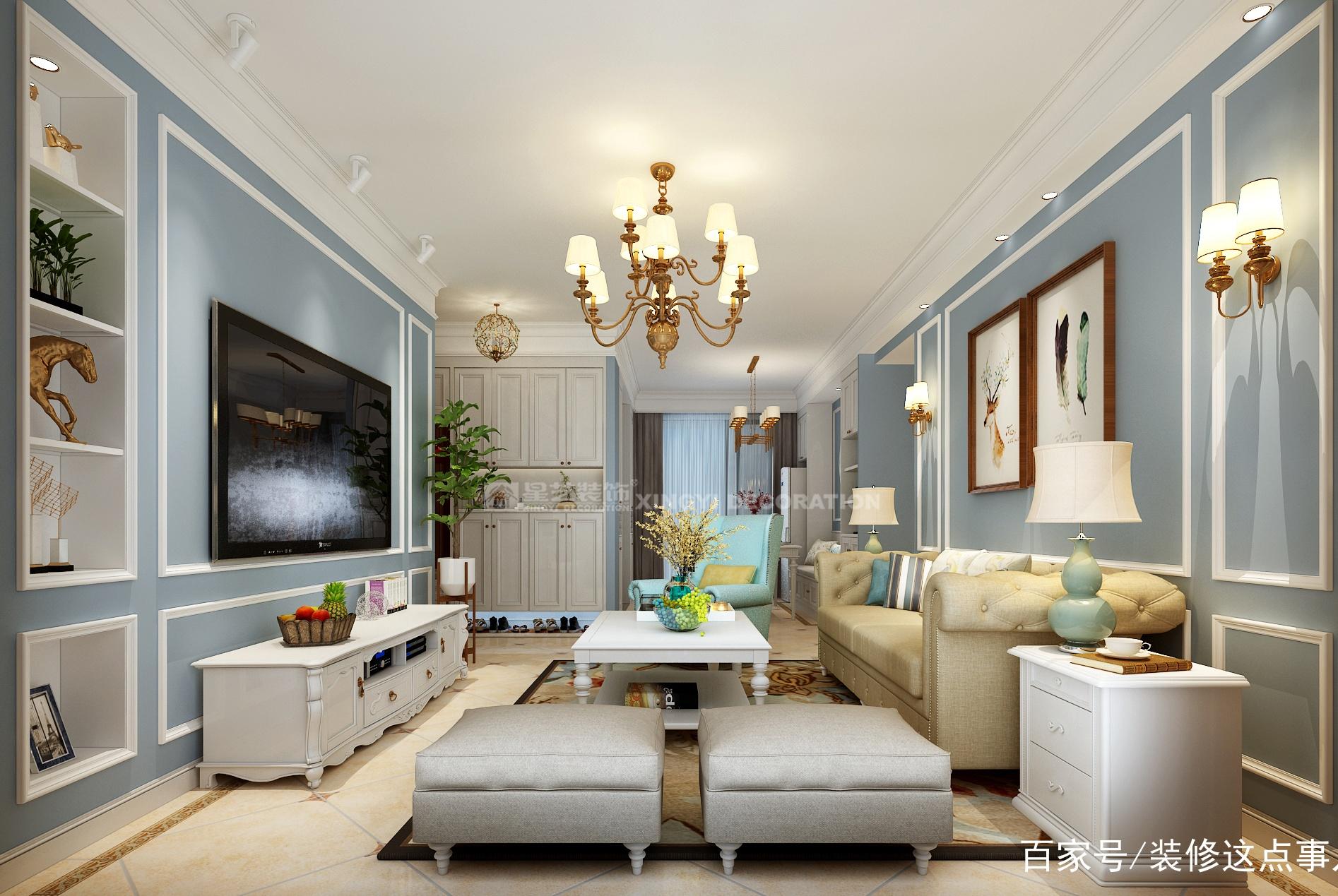 80平左右的小户型,客厅电视背景墙设计,我推荐这三种方案!