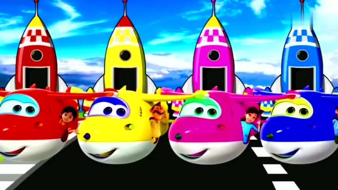 超级飞侠小火箭载着小朋友们过来,教宝宝认识颜色,学习英语!