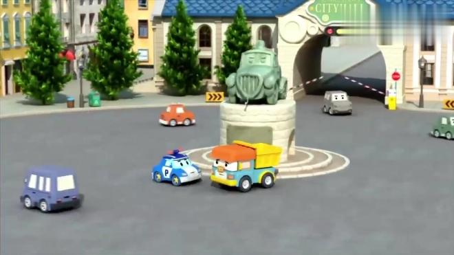 儿童安全教育动画片 克里尼告诉变形警车珀利 凯文球坏了人没事