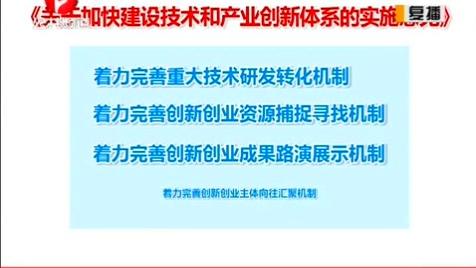 安徽省加快建设技术和产业创新体系