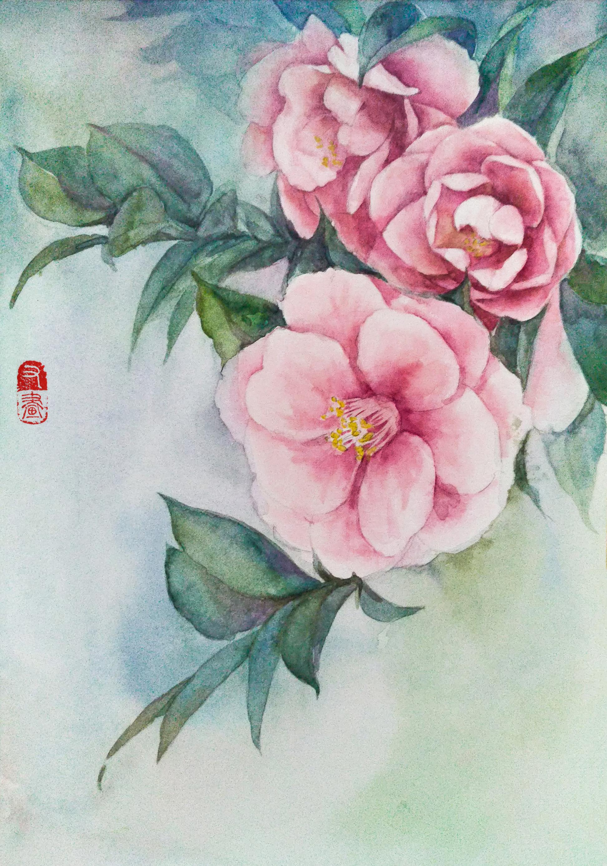 写生,颜料,新手教程,水彩画入门,上色,初学者,风景,花卉,植物,钢笔淡